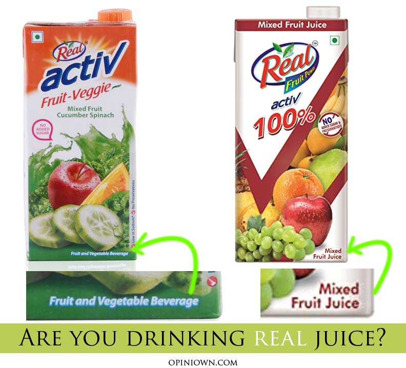 false advertising active-fruit-real-juice-vs-beverage
