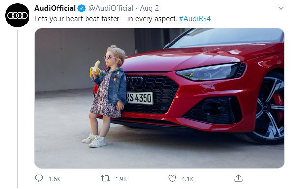 Audi-RS4-Avant-Girl-Banana-Ad twitter backlash
