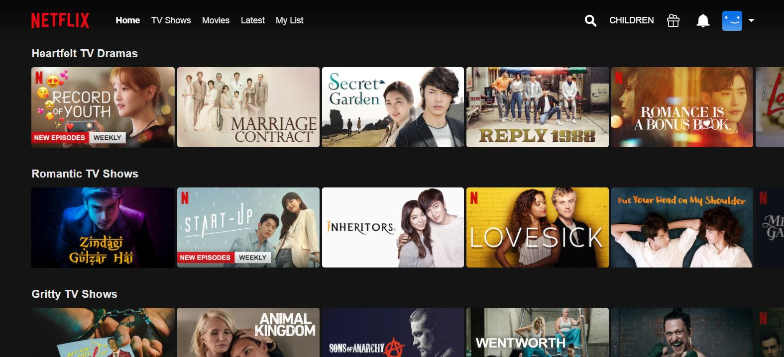 netflix korean TV shows