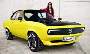 Opel-manta-gse-elektromod retro ev design trend